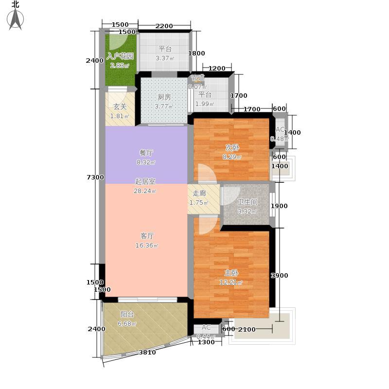 大华·锦绣海岸85.00㎡R-07户型2室2厅