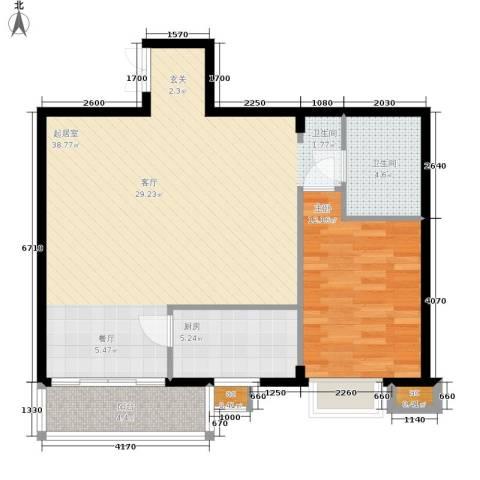 鸿盛凯旋门1室0厅1卫1厨75.00㎡户型图