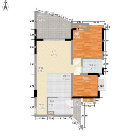 锦绣江南2室0厅1卫1厨72.08㎡户型图