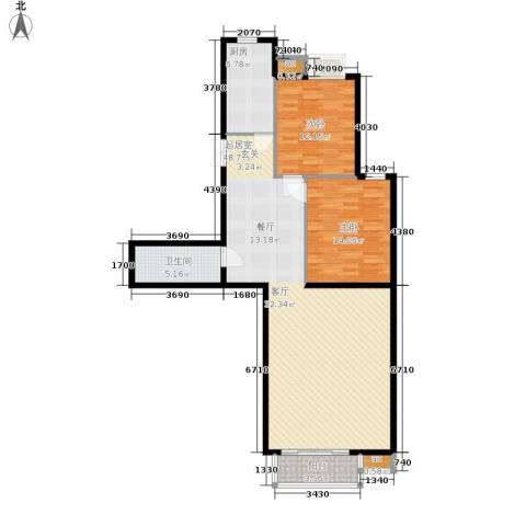 鸿盛凯旋门2室0厅1卫1厨104.00㎡户型图