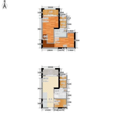 优跃城1卫1厨49.19㎡户型图