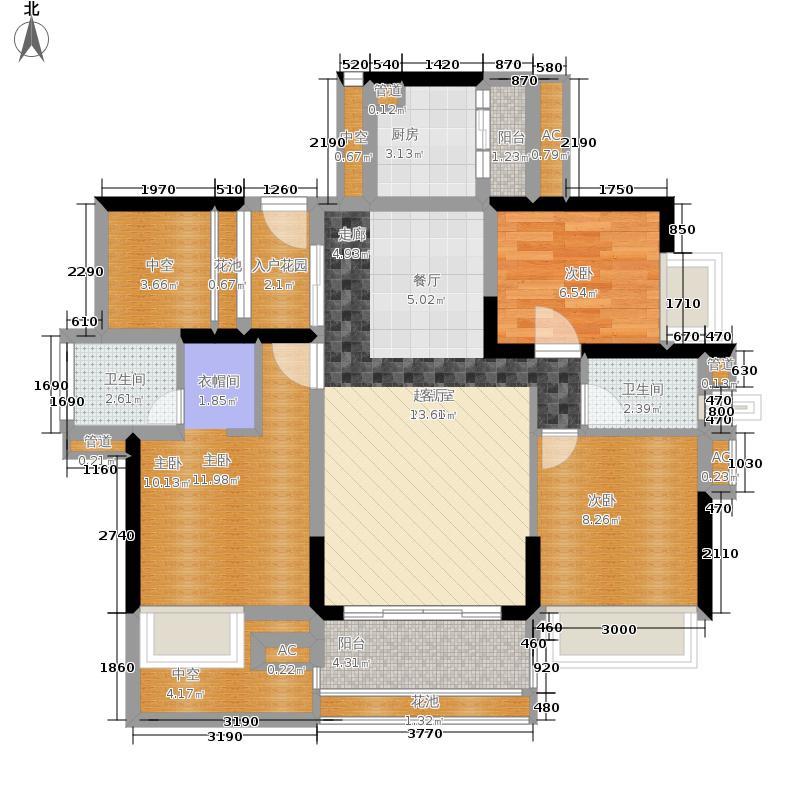通大南沙129.00㎡4-1栋01单元户型3室2厅