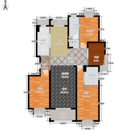 仁和都市花园3室0厅2卫1厨140.00㎡户型图