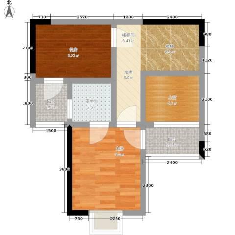帝豪巴南印象2室0厅1卫0厨42.90㎡户型图
