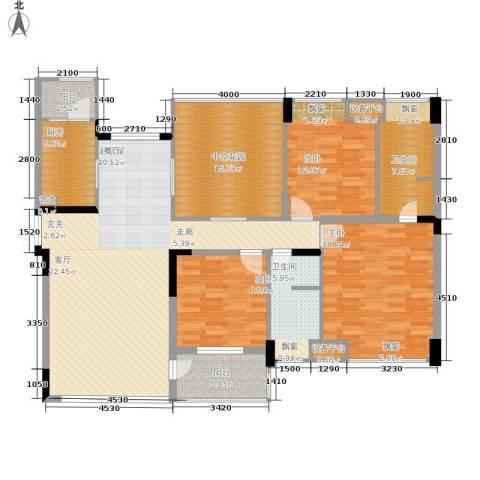 金科10年城3室0厅2卫1厨128.00㎡户型图