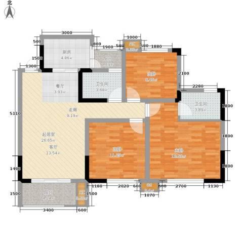 阳光英伦城邦3室0厅2卫1厨120.00㎡户型图