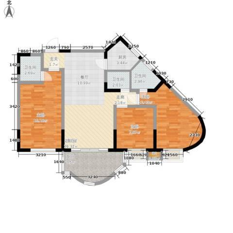 聚丰锦绣盛世3室0厅3卫1厨93.00㎡户型图