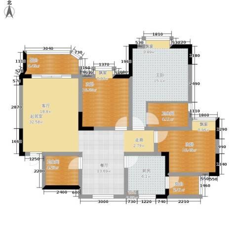 珠江华轩3室0厅2卫1厨104.57㎡户型图