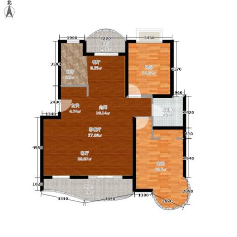 恒大翰城瀚林苑2室1厅1卫0厨120.00㎡户型图