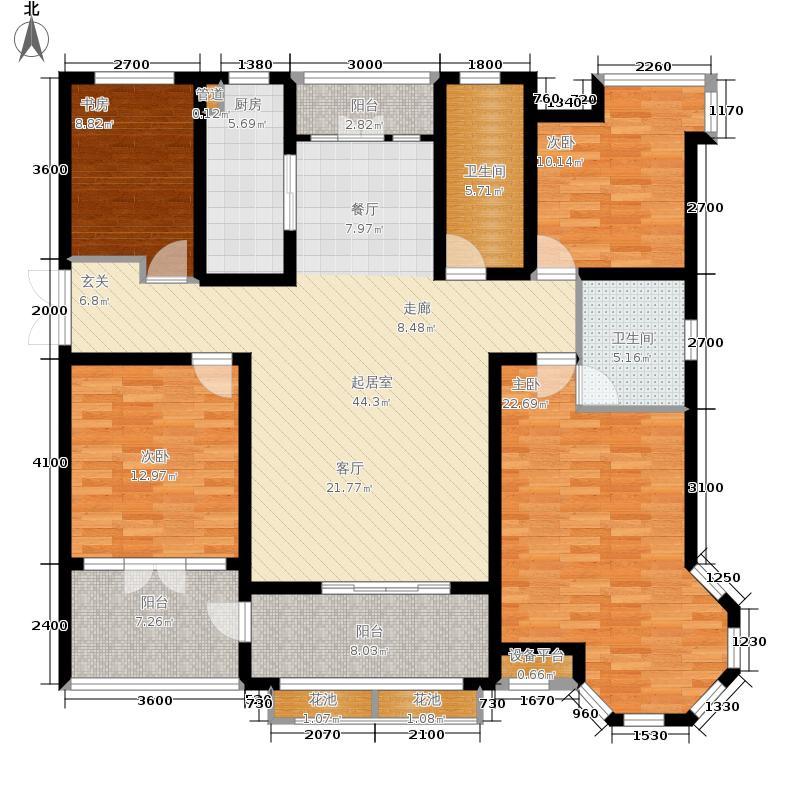 英伦湾177.10㎡3号楼F户型4室2厅