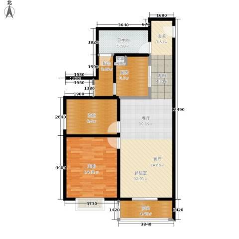 中兴财富国际公寓2室0厅1卫1厨85.60㎡户型图
