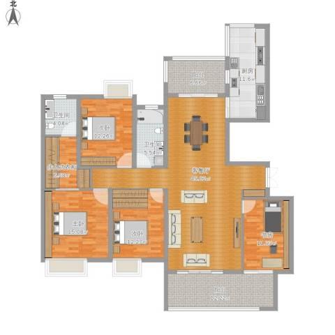 恒基誉珑岛4室1厅2卫1厨207.00㎡户型图
