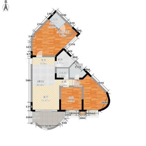聚丰锦绣盛世3室0厅3卫1厨96.00㎡户型图