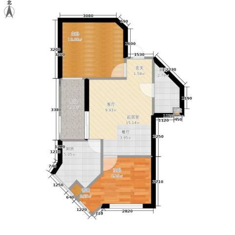 西铁领寓2室0厅0卫2厨52.00㎡户型图