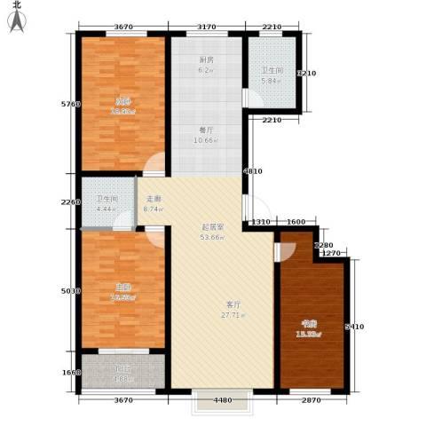 唐县丽景花园3室0厅2卫0厨134.00㎡户型图