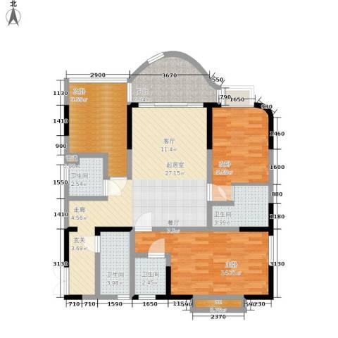 聚丰锦绣盛世3室0厅4卫0厨96.00㎡户型图