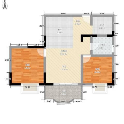巴蜀怡苑2室0厅1卫0厨69.00㎡户型图