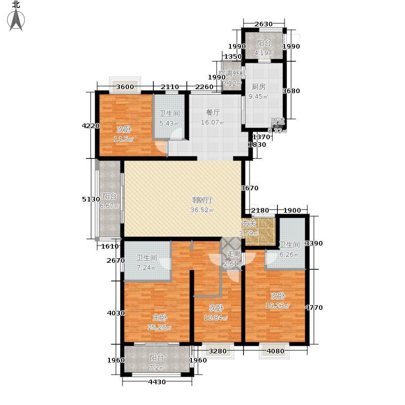海峡城第三街区201.00㎡海峡城云璟湾4#、5#G-1户型4室2厅