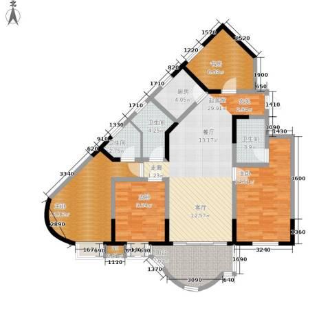 聚丰锦绣盛世4室0厅3卫1厨115.00㎡户型图