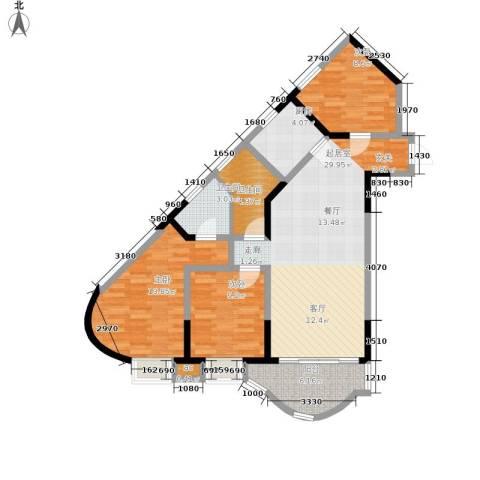 聚丰锦绣盛世3室0厅2卫1厨93.00㎡户型图