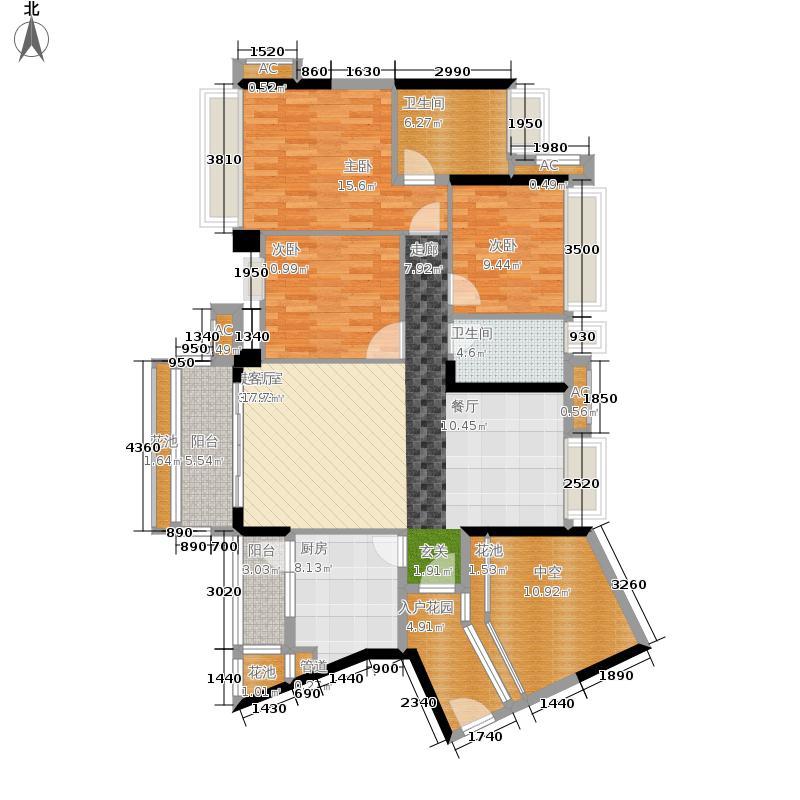 通大南沙119.00㎡2栋03单位户型3室2厅