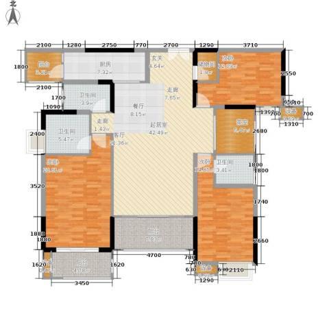 中渝山顶道国宾城3室0厅3卫1厨137.00㎡户型图