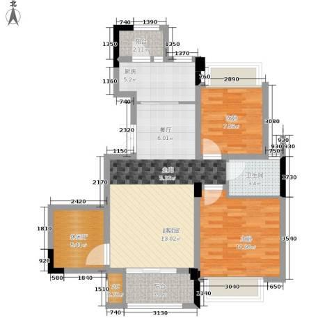 华地御临江山2室0厅1卫1厨94.00㎡户型图