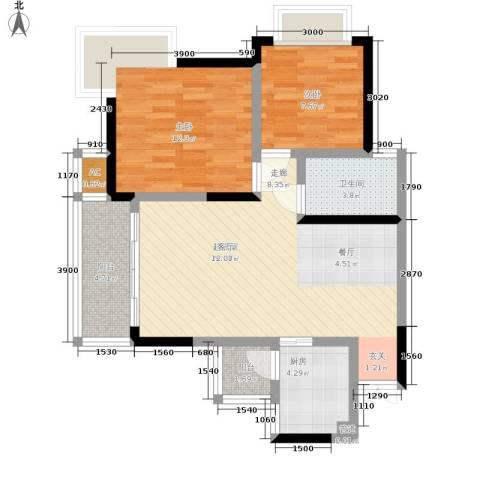 浩立半岛康城2室0厅1卫1厨128.00㎡户型图