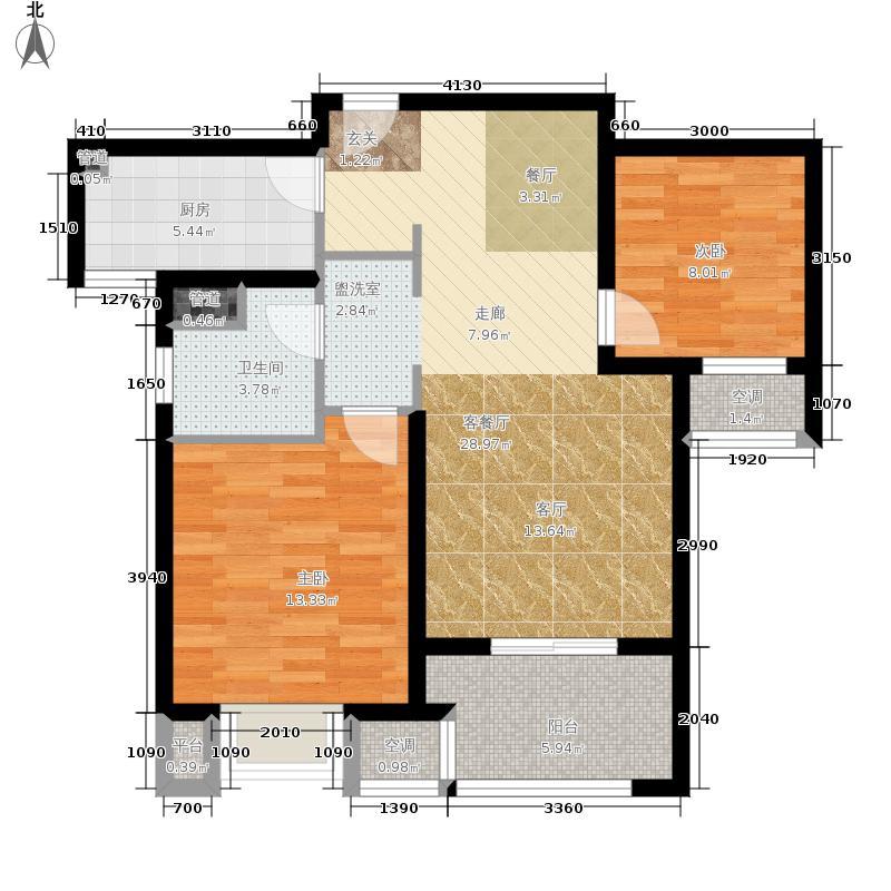 海峡城第三街区80.00㎡海峡城云璟湾4#、5#H-2户型2室2厅