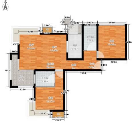 绿洲雅宾利花园2室0厅2卫1厨108.00㎡户型图