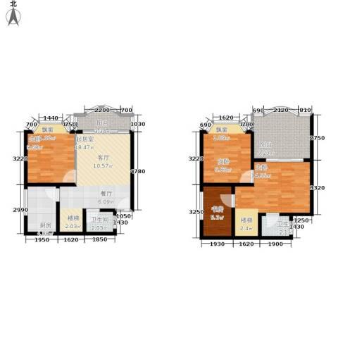 秋实小区4室0厅2卫1厨114.00㎡户型图