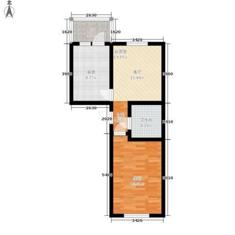 慢咖领地1室0厅1卫1厨63.00㎡户型图