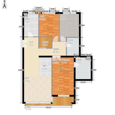 本家润园3室1厅2卫1厨119.00㎡户型图