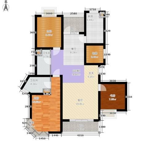 锦里3室0厅2卫1厨144.00㎡户型图