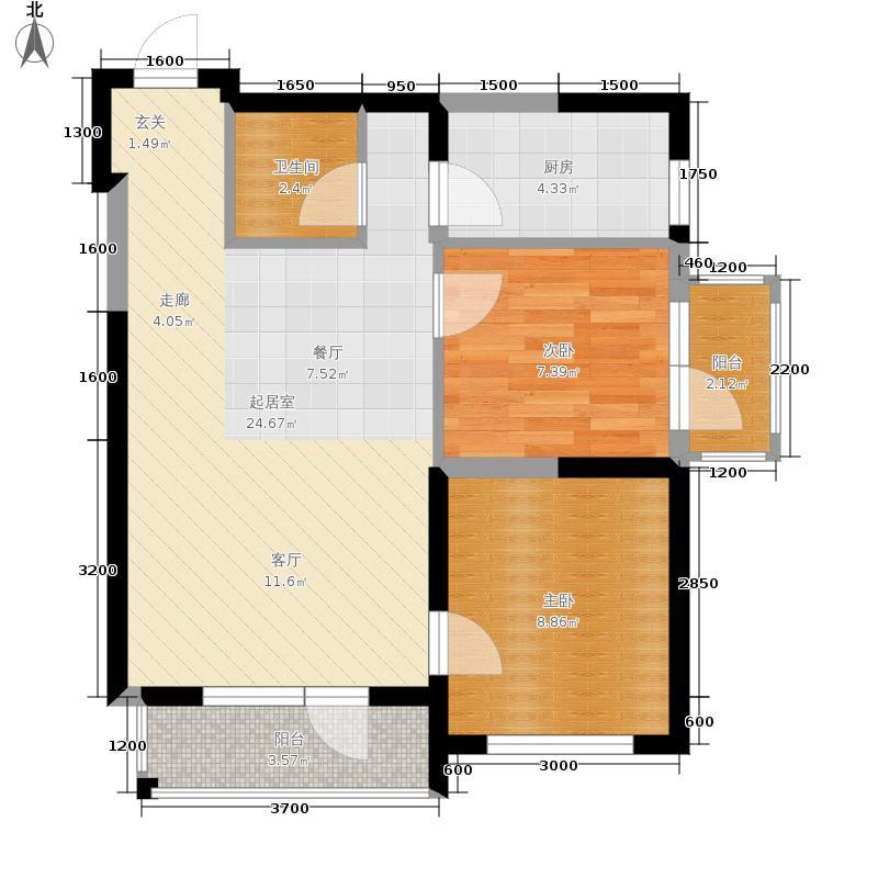 中交金海湾70.90㎡11奇数层户型2室2厅