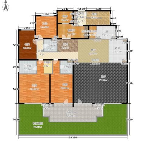 西山华府4室0厅3卫0厨502.00㎡户型图