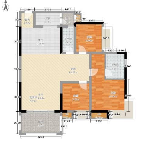 星月湾3室0厅2卫1厨102.00㎡户型图