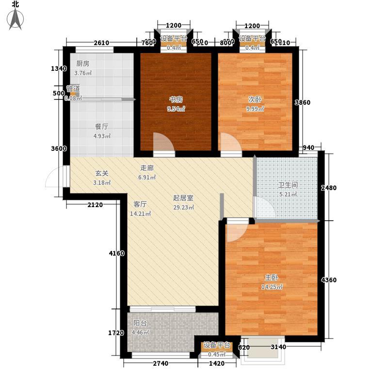 绿地隆悦公馆111.60㎡A4-E1户型3室2厅