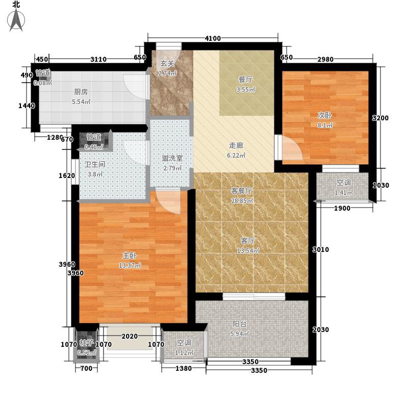 海峡城第三街区80.00㎡海峡城户型2室2厅