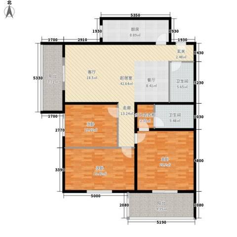 吉利家园3室0厅2卫1厨147.00㎡户型图