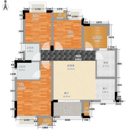 华地御临江山3室0厅2卫1厨115.00㎡户型图