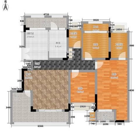 华地御临江山3室0厅2卫1厨155.00㎡户型图
