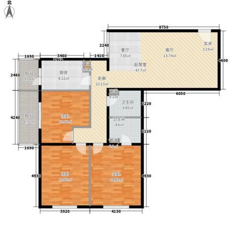 吉利家园3室0厅2卫1厨139.00㎡户型图