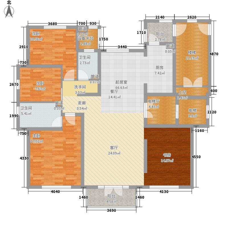 启锐园159.44㎡E户型4室2厅