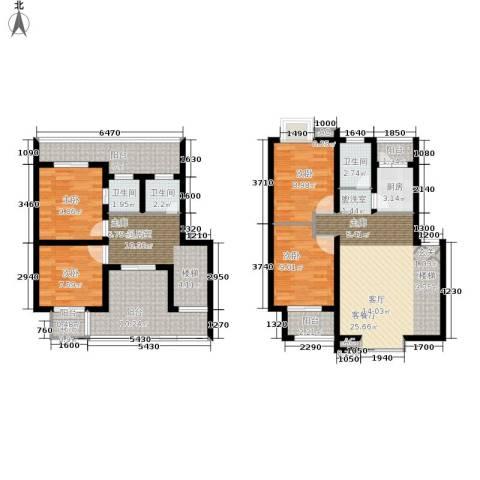长青湖茶花小镇4室1厅3卫1厨123.00㎡户型图