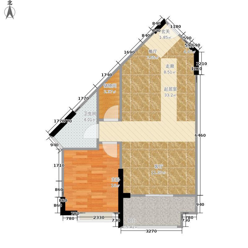 恒大棋子湾70.00㎡-公寓GL16-B3户型1室1厅