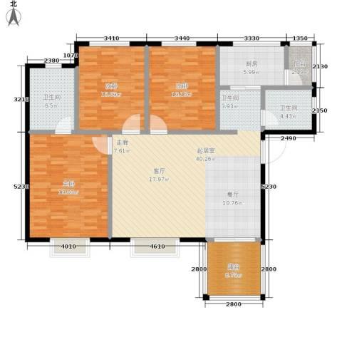 凯旋名都3室0厅2卫1厨156.00㎡户型图