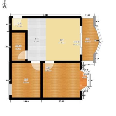 秋实小区1室0厅1卫1厨66.00㎡户型图