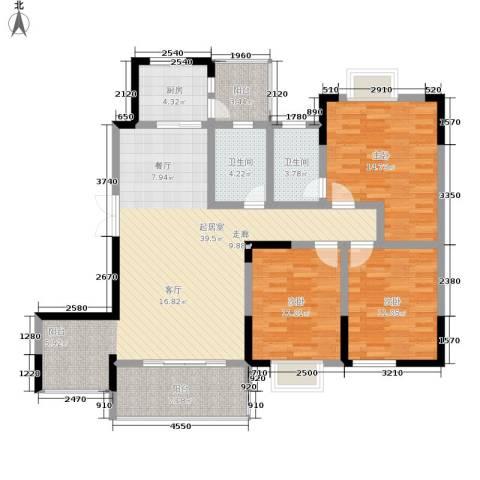 黔源蓝湖星宇3室0厅2卫1厨123.00㎡户型图
