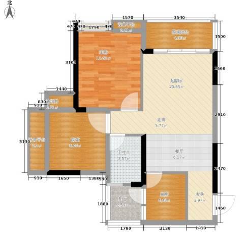美丽泽京1室0厅1卫1厨73.00㎡户型图